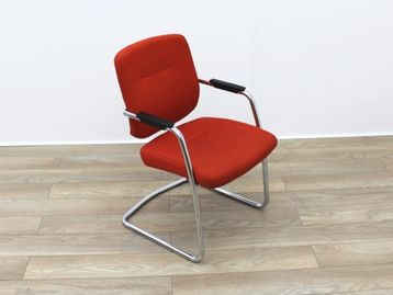 Used Orange Fabric Cantilever Meeting Chairs