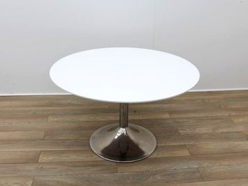 Used 1200mm White Circular Meeting Table