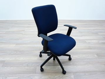 Used Blue Fabric Multifunction Office Operator Chairs