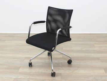 Zuco Visita Used Black Mesh Back Office Meeting Chair