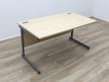 Used 1400mm Maple Cantilever Desks