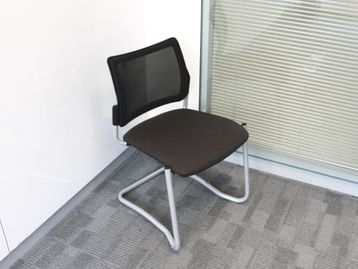 Used Meeting Chairs With Mesh Back and Fabric Seat