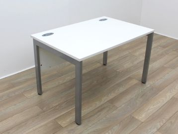 Used 1200mm White Desks with Modesty Panel