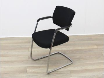 Senator 'Sprint' Cantilever Visitor/Meeting Chairs Upholstered in Black Fabric