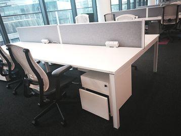 Used 1600mm Herman Miller White Bench Desks