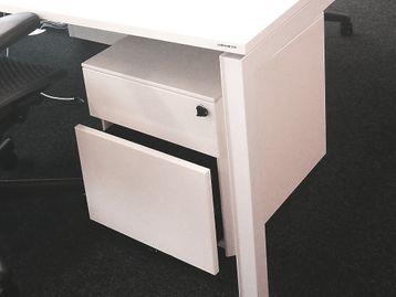 Used White 2 drawer Under Desk Pedestals