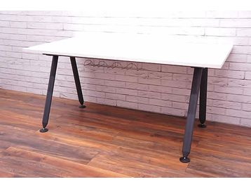 Herman Miller 'Abak' office desks with Graphite Oval Legs - tops are Brand New - choose your size and finish