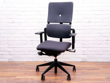 Used Steelcase Please V2 Operator Chairs in Dark Grey