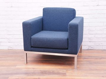 Used Hitch Mylius HM26 Fred Armchair in Blue Fabric