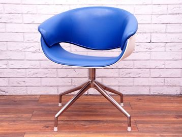 Used B&B Italia Sina Chairs in Blue and White