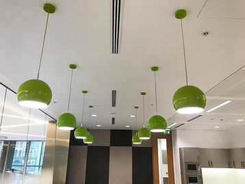 Used Lime Green Ceiling Light