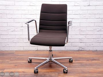 Used Brunner Fina Chair in Brown Ribbed Fabric
