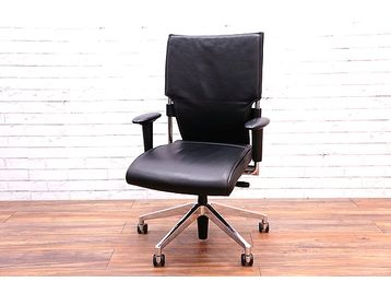 Brunner Drive Executive Black leather Chair Drive Office Chair with Chrome frame