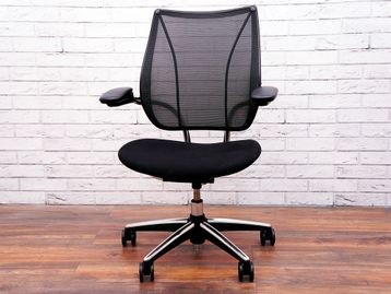 Used Humanscale Executive Liberty Chairs with Black Fabric Seat