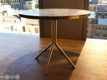 Used OB&B Circular Table with Marquina Marble Top