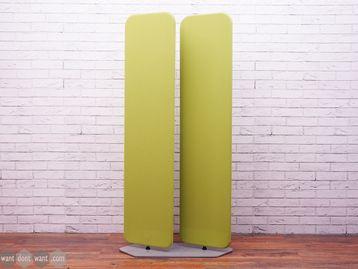 Used Sedus Viswall Floor Standing Dividing Screens in Lime Green