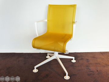 Used Alias Mesh Meeting Chairs in Yellow and White