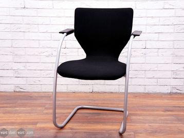 Used Orangebox X10-CA Black Fabric Meeting Chairs