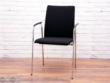 Used Brunner Fox Black Meeting Chairs with Arms