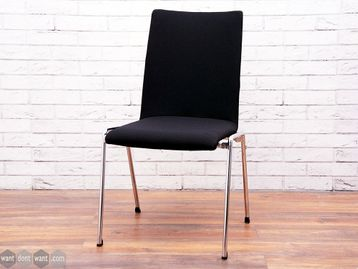 Used Brunner Fox Black Meeting Chairs without Arms