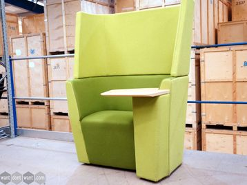 Used Orangebox 'Away from the Desk' Unit in Green with Writing Table