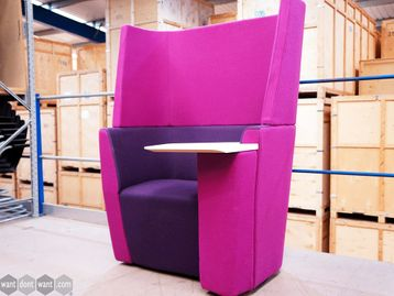 Used Orangebox 'Away from the Desk' Unit in Purple with Writing Table