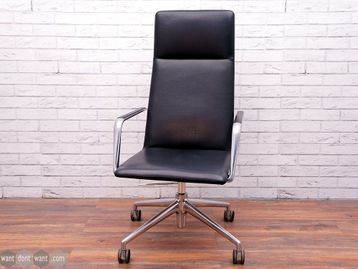 Used Brunner Finasoft 6722/A Chairs in Black Leather