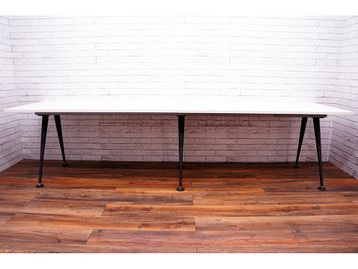 Herman Miller 'Abak' Side-by-Side bench desks with Graphite Tapered Legs