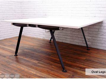 Refurbished Herman Miller 'Abak' Bench Desks with Graphite Oval Legs