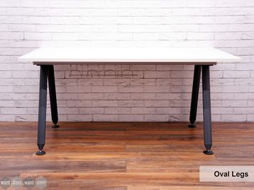 Refurbished Herman Miller 'Abak' Single Desks with Graphite Oval Legs