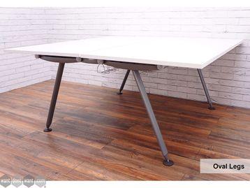 Refurbished Herman Miller 'Abak' Bench Desks with Silver Oval Legs