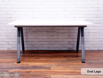 Refurbished Herman Miller 'Abak' Single Desks with Silver Oval Legs
