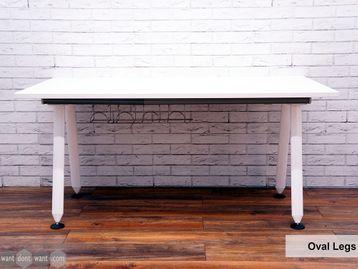 Refurbished Herman Miller 'Abak' Single Desks with White Oval Legs