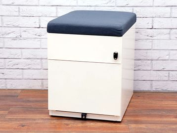 Used 2 Drawer White Pedestals With Cushion