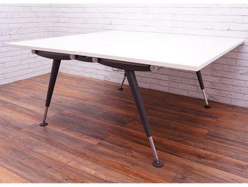 Herman Miller 'Abak' back-to-back bench desks with Graphite Height-Adjustable Legs