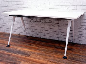 Herman Miller 'Abak' office desks with White Tapered Legs - Tops are Brand New - choose your size and finish