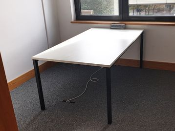 Used 1800mm Rectangular White Meeting Table