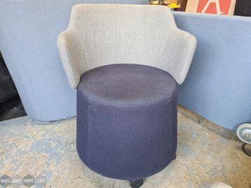 Used Orangebox Skomer Chairs in Blue & Grey
