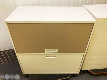 Used Storage Cupboard with Drawer & Lift-up Door