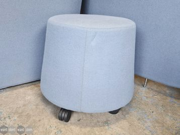 Used Orangebox Sully-01 Stool in Blue with Casters