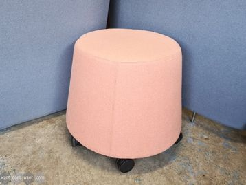 Used Orangebox Sully-01 Stool in Salmon with Casters