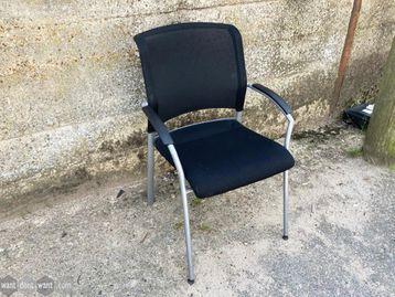 Used Interstuhl Black Mesh Back Meeting Chairs