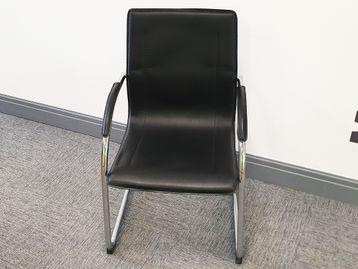 Used Teknik Black Cantilever Boardroom Meeting Chairs