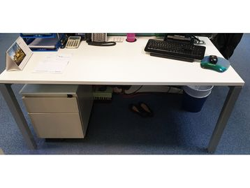 Used 1634mm Elite White Single Desk