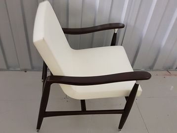 Used David Edward Hutton Lounge Chair with Polished Nickel