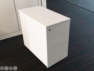 Used Desk Height White Pedestal
