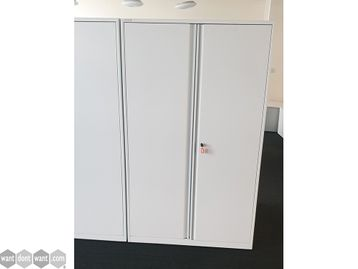 Used Triumph White Double Door Cupboards with Shelves