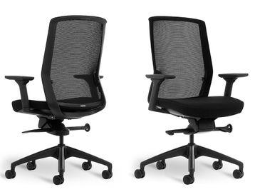 Brand New Bestuhl J1 Task Chair with Black Fabric Seat & Black Base