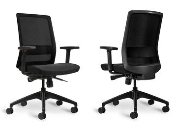 Brand New Bestuhl S30 Task Chair with Black Fabric Seat & Black Base