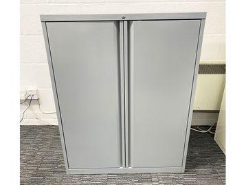 Used Bisley Mid Height Double Door Storage Cupboards